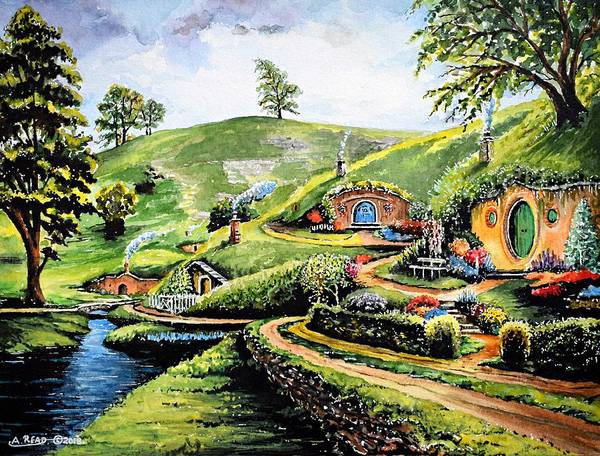 Wall Art - Painting - The Shire by Andrew Read