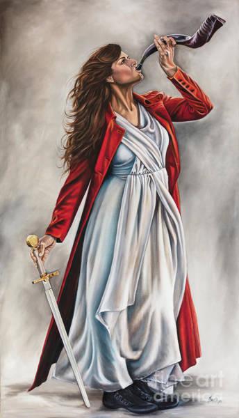 Shofar Wall Art - Painting - The Shofar And Sword by Ilse Kleyn