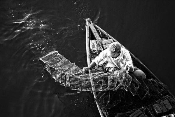 Photograph - The Shrimp Fisherman by Cameron Wood