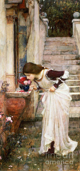 Marble Painting - The Shrine by John William Waterhouse