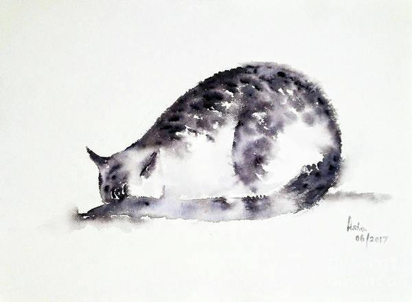 Painting - The Shy Cat by Asha Sudhaker Shenoy