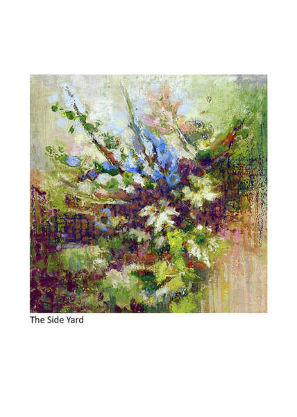 Pastel - The Side Garden by Betsy Derrick