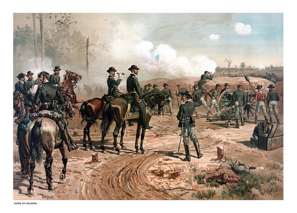 Civil War Generals Painting - The Siege Of Atlanta by War Is Hell Store