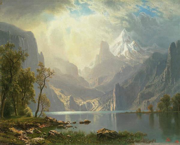 Sierra Nevada Painting - The Sierra Nevada by Albert Bierstadt