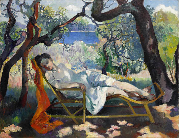 Wall Art - Painting - The Siesta Jeanne Asleep by Henri Manguin