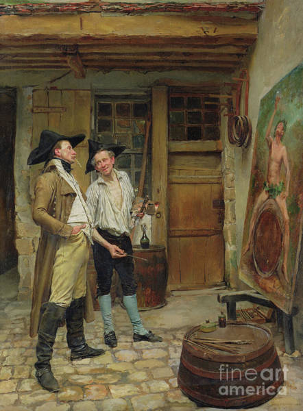 Skill Painting - The Sign Painter by Jean-Louis Ernest Meissonier