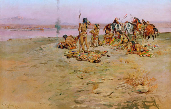 1897 Painting - The Signal Fire, 1897 by Charles Marion Russell