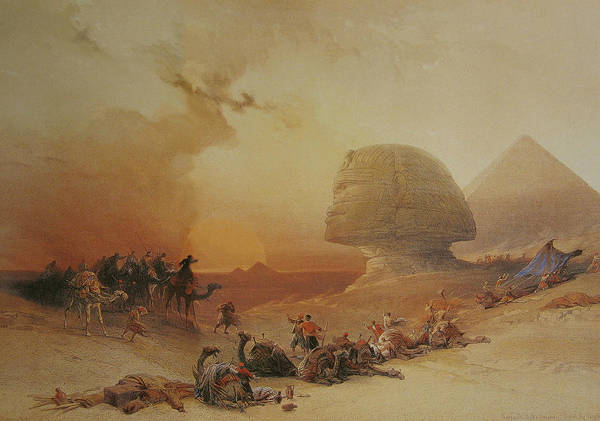 Painting - The Simoon In The Desert by David Roberts