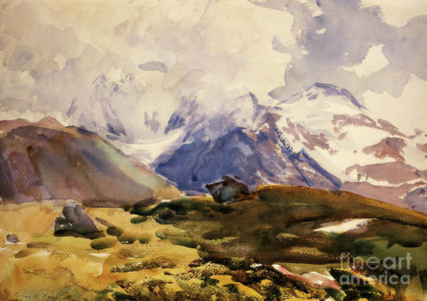 Terrain Painting - The Simplon by John Singer Sargent