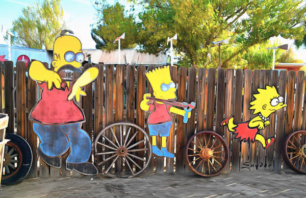 Photograph - The Simpsons On A Fence by Floyd Snyder