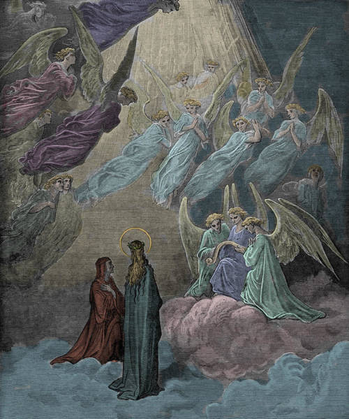 Beam Painting - The Singing Of The Blessed In The Sixth Heaven by Gustave Dore