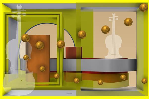 The Singular Song In Yellow Art Print