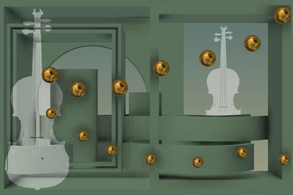 The Singular Song With Gold Balls Art Print