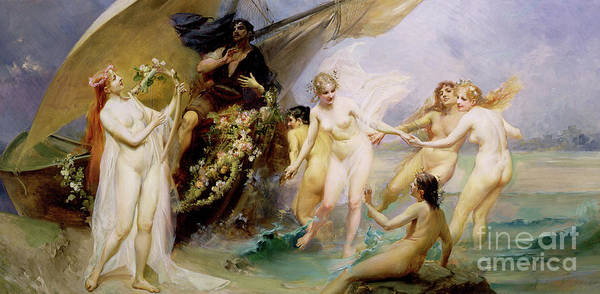 Siren Painting - The Sirens by Edouard Veith