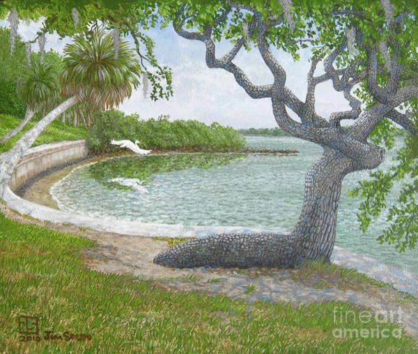 Oak Harbor Painting - The Sitting Oak Tree by Jim Soldo