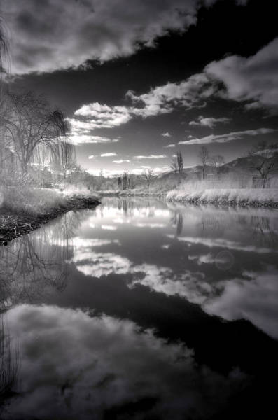Photograph - The Skaha Pond In Black And White by Tara Turner