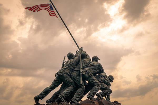 The Skies Over Iwo Jima Art Print