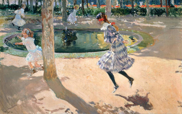 Skipping Painting - The Skipping Rope by Joaquin Sorolla y Bastida