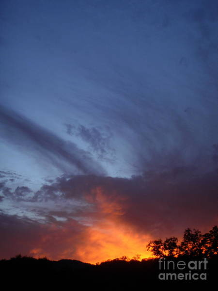 The Sky Is On Fire  Art Print by Cullen Knappen