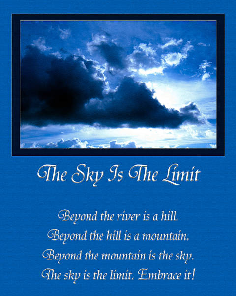 Photograph - The Sky Is The Limit by Andee Design