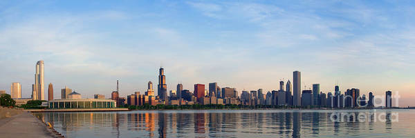 The Skyline Of Chicago At Sunrise Art Print