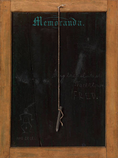 Slate Painting - The Slate Memoranda by John Haberle