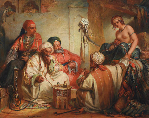Trader Painting - The Slave Market, 1853 by Jean Francois Portaels