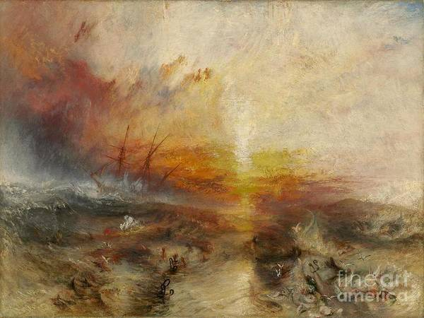 J. M. W. Turner Painting - The Slave Ship, by MotionAge Designs