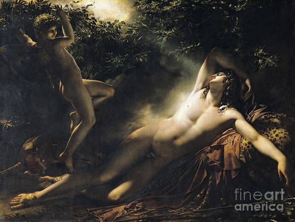 Wall Art - Painting - The Sleep Of Endymion by Anne Louis Girodet de RoucyTrioson