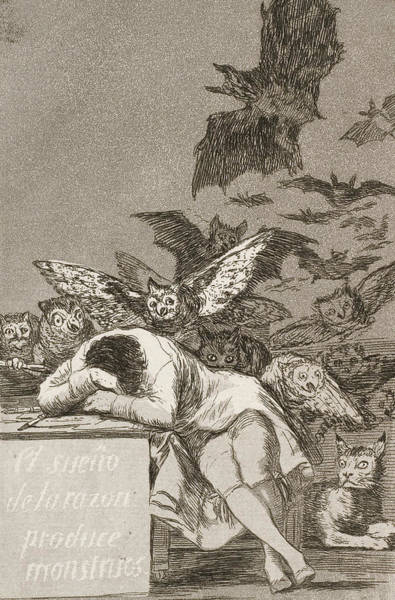 Relief - The Sleep Of Reason Produces Monsters by Francisco Goya