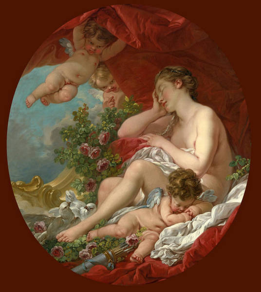 Francois Boucher Painting - The Sleep Of Venus by Francois Boucher