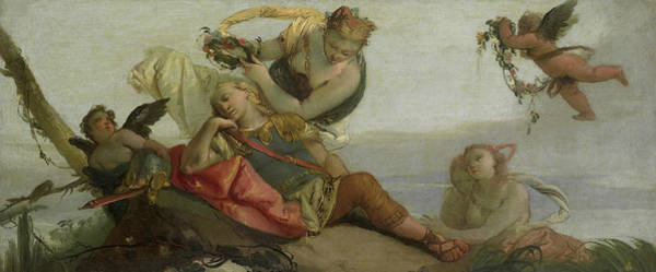 Painting - The Sleeping Rinaldo by Francesco Zugno