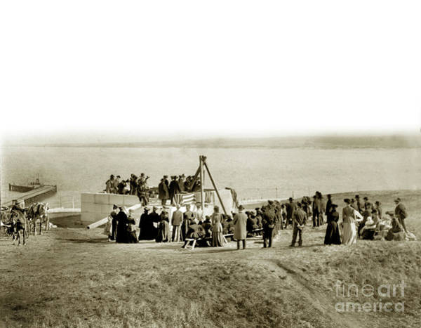 Photograph - The Sloat Monument At The Lower Presidio. 7-7-1896 by California Views Archives Mr Pat Hathaway Archives