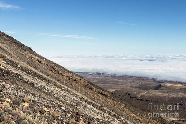 Photograph - The Slope Of The Ngauruhoe Volcano On Tongariro Tail In New Zeal by Didier Marti