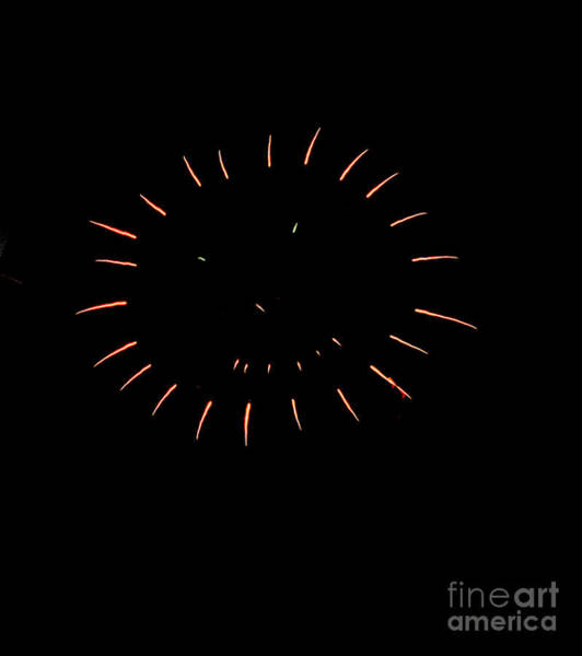 Fireworks Show Wall Art - Photograph - The Smile by Robert Bales