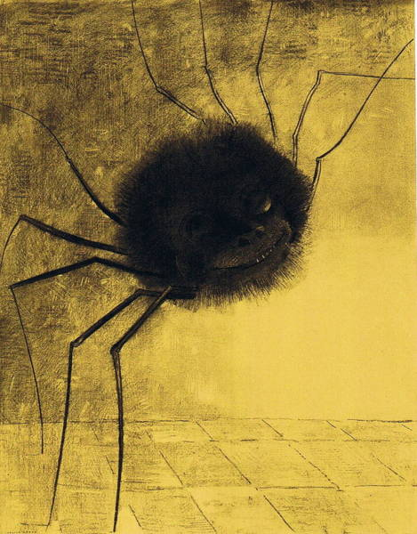Painting - The Smiling Spider by Odilon Redon