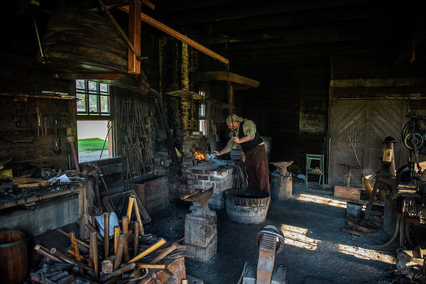 Farrier Photograph - The Smithy by Paul Freidlund