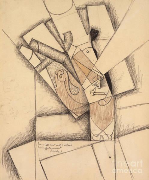Wall Art - Pastel - The Smoker, 1913  by Juan Gris