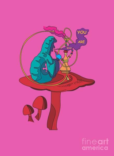 Psychedelia Digital Art - The Smoking Caterpillar - Alice In Wonderland - Ask Alice by Paul Telling