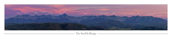 Wall Art - Photograph - The Sneffels Range With Peak Labels by Aaron Spong