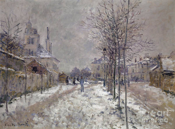 Wall Art - Painting - The Snow Covered Boulevard De Pontoise In Argenteuil, 1875 by Claude Monet