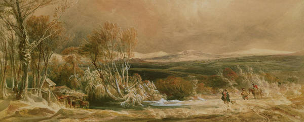 Winter Walk Painting - The Snow Drift  by Peter de Wint