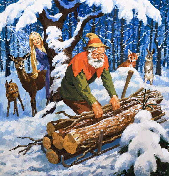 Lumberjacks Drawing - The Snow Fairy by English School