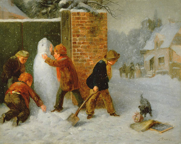 Spade Painting - The Snowman by Edward Charles Barnes