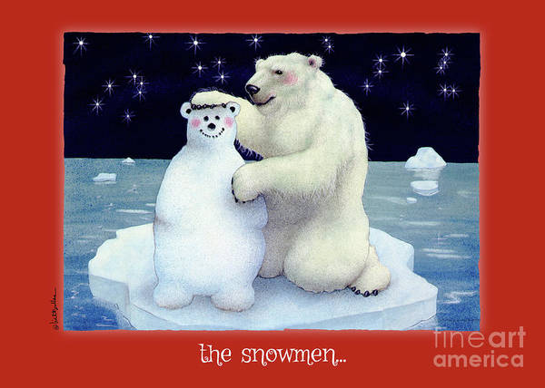 Painting - The Snowmen... by Will Bullas