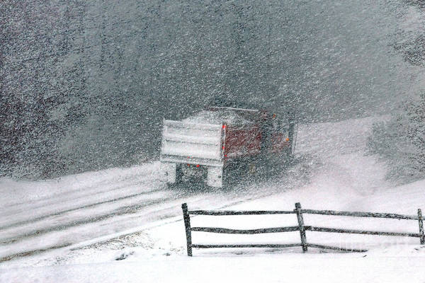 Photograph - The Snowplow by Olivier Le Queinec