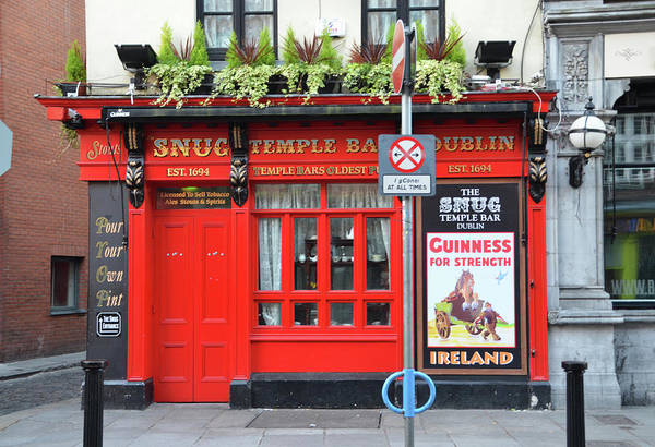 Temple Bar Wall Art - Photograph - The Snug Pub - Temple Bar Dublin Ireland by Bill Cannon