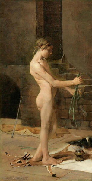 Style Painting - The Socerer's Slave by Thomas Dewing