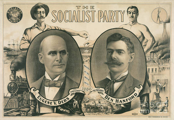 American History Drawing - The Socialist Party Presidential Ticket Of 1904 by American School