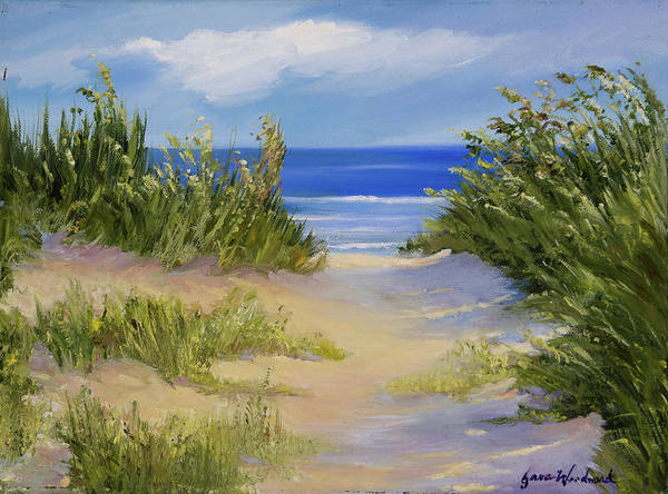 Sea Oats Painting - The Soft Winds Of Summer by Jane Woodward